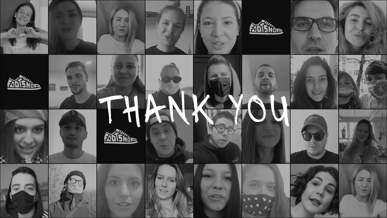 Mulțumesc! Footshop trimite un mesaj celor din prima linie