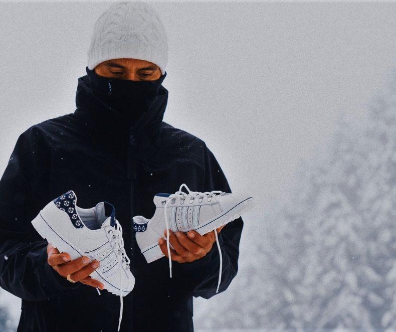 Editorial: Footshop x adidas Superstar 'Blueprinting' pe zăpadă